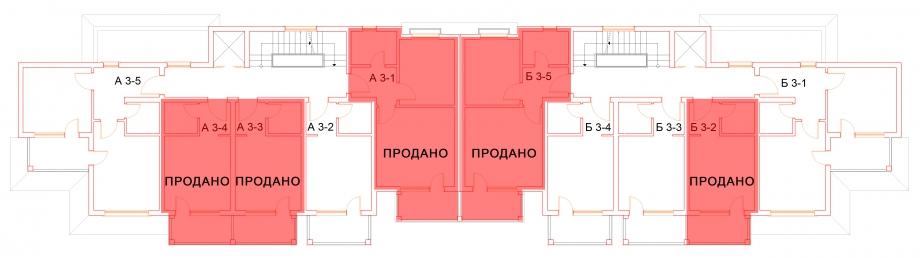 План третьего этажа комплекса Антик Палас