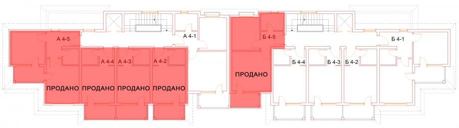 План четвертого этажа комплекса Антик Палас