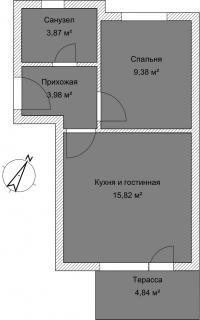 Апартамент А 3-1 План помещения AntiquePalace