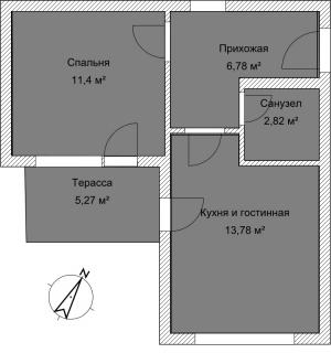 Апартамент А 3-5 План помещения AntiquePalace