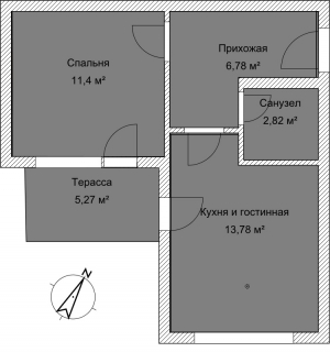 Апартаменты А 2-3 План помещения AntiquePalace