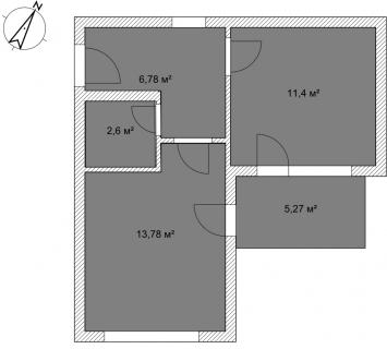 Апартаменты Б 2-1 План помещения AntiquePalace