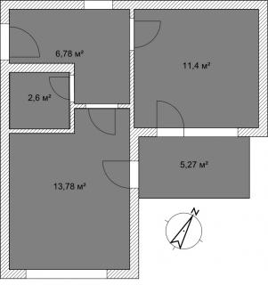 Апартаменты Б 3-1 План помещения AntiquePalace