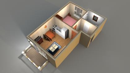 Апартаменты Б 4-5 3D вид AntiquePalace