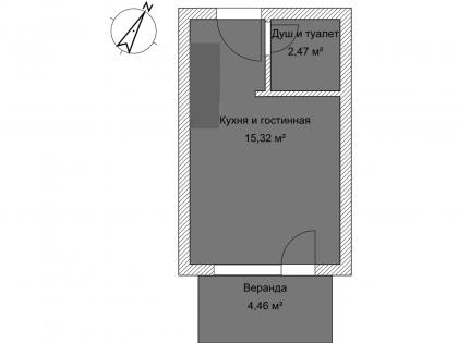 Мезонет А 1-2 1 этаж План помещения AntiquePalace