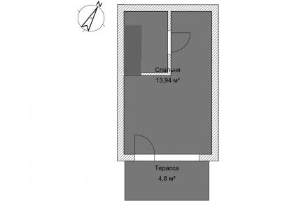 Мезонет А 1-2 2 этаж План помещения AntiquePalace