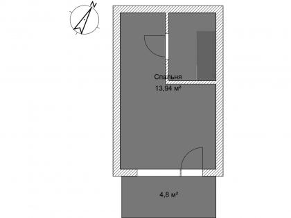 Мезонет А 1-4 2 этаж План помещения AntiquePalace