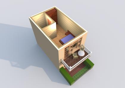Мезонет Б 1-3 2 этаж 3D вид AntiquePalace