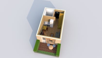 Мезонет Б 1-5 1 этаж 3D вид AntiquePalace