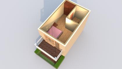 Мезонет Б 1-5 2 этаж 3D вид AntiquePalace