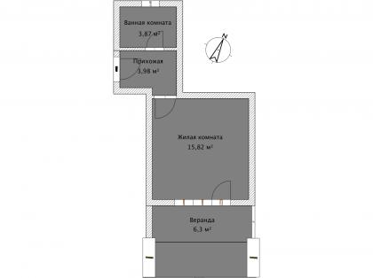 Студия А 1-1 План помещения AntiquePalace