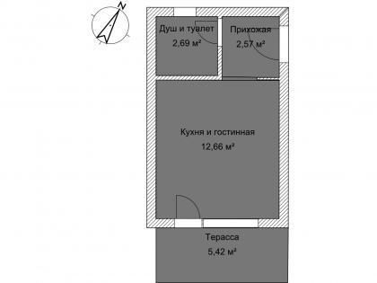 Студия А 1-6 План помещения AntiquePalace