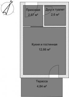 Студия А 2-2 План помещения AntiquePalace