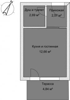 Студия А 4-4 План помещения AntiquePalace