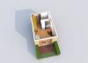 Мезонет Б 1-3 1 этаж 3D вид AntiquePalace